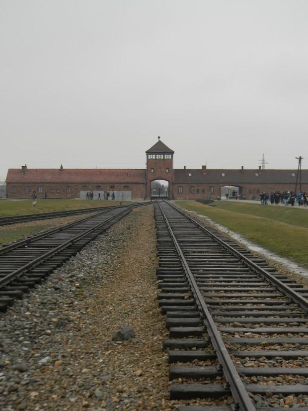 The entrance to Birkenau.