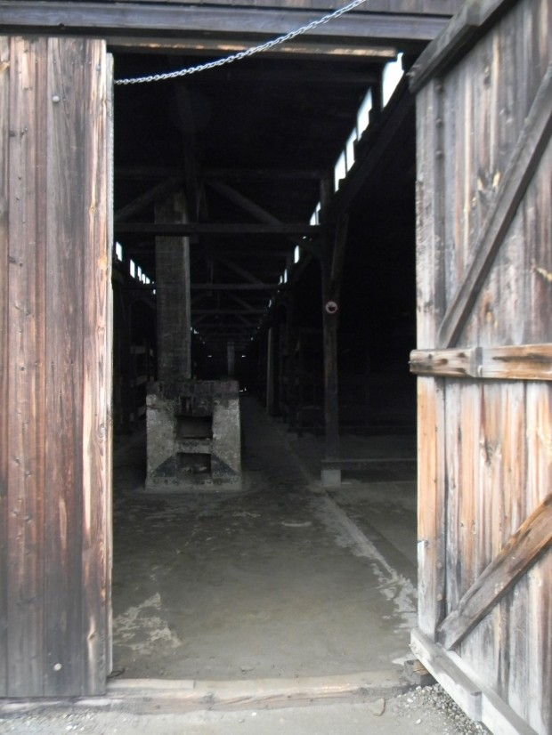 A view inside the wooden barracks at Birkenau. A lot of structures at the camp were destroyed by the time the war ended, but this one survived. Touring it on a cold, snowy day made it easier to try to imagine what it must have been like to live inside - even bundled up in a coat, hat, scarf, sweater, and boots, I couldn't stop shivering. Considering prisoners had far less protection from the elements than I did - and were faced with far worse weather, and malnutrition, and hard labor - it's incredible that some people managed to get out alive.