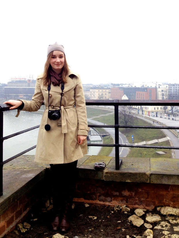 On the grounds of Wawel Hill, high above the Vistula River (and the whole city).